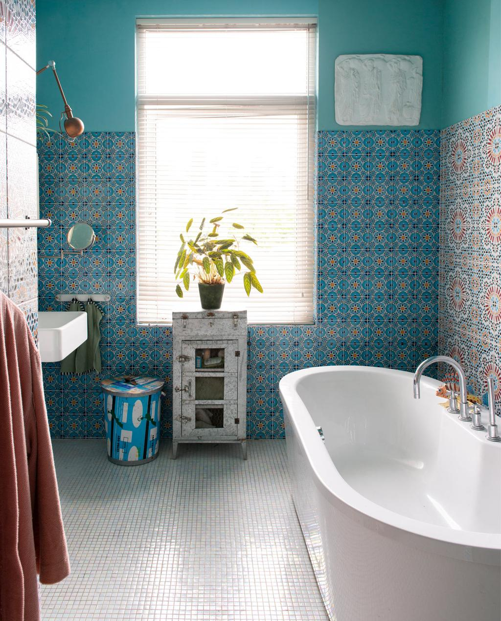 Blauwe badkamer | Tegels