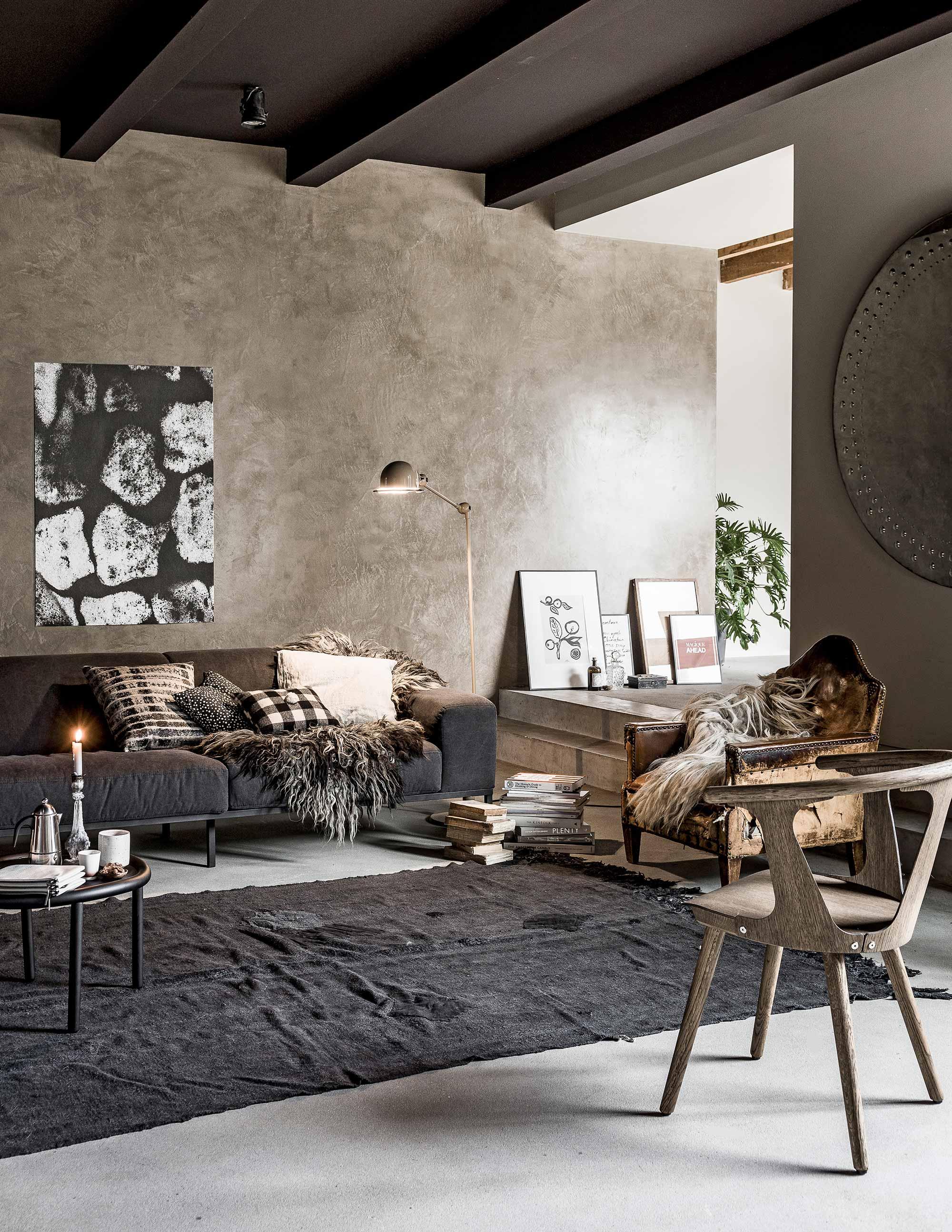aardetinten warm woonkamer vloerkleed