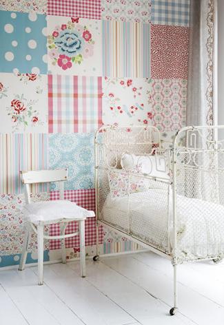 Behang en muurstickers meisjeskamer