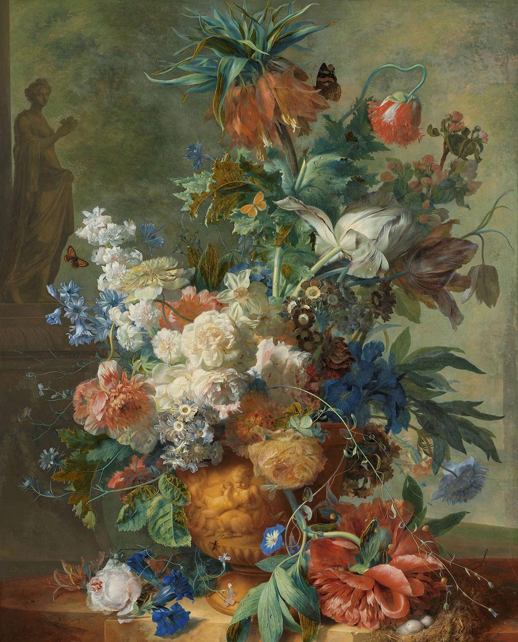 stilleven met bloemen van Jan van Huysum (1723)