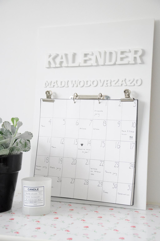 houten kalender