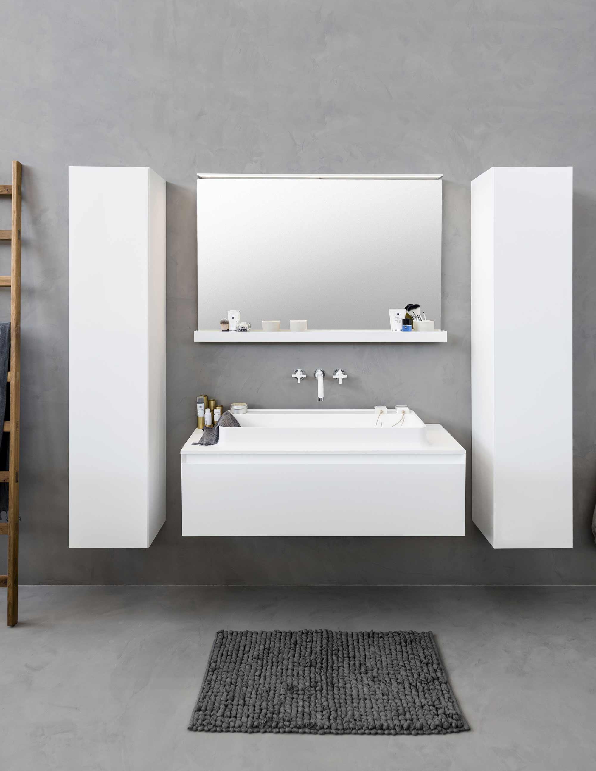 nieuwe badkamer wit basic beton