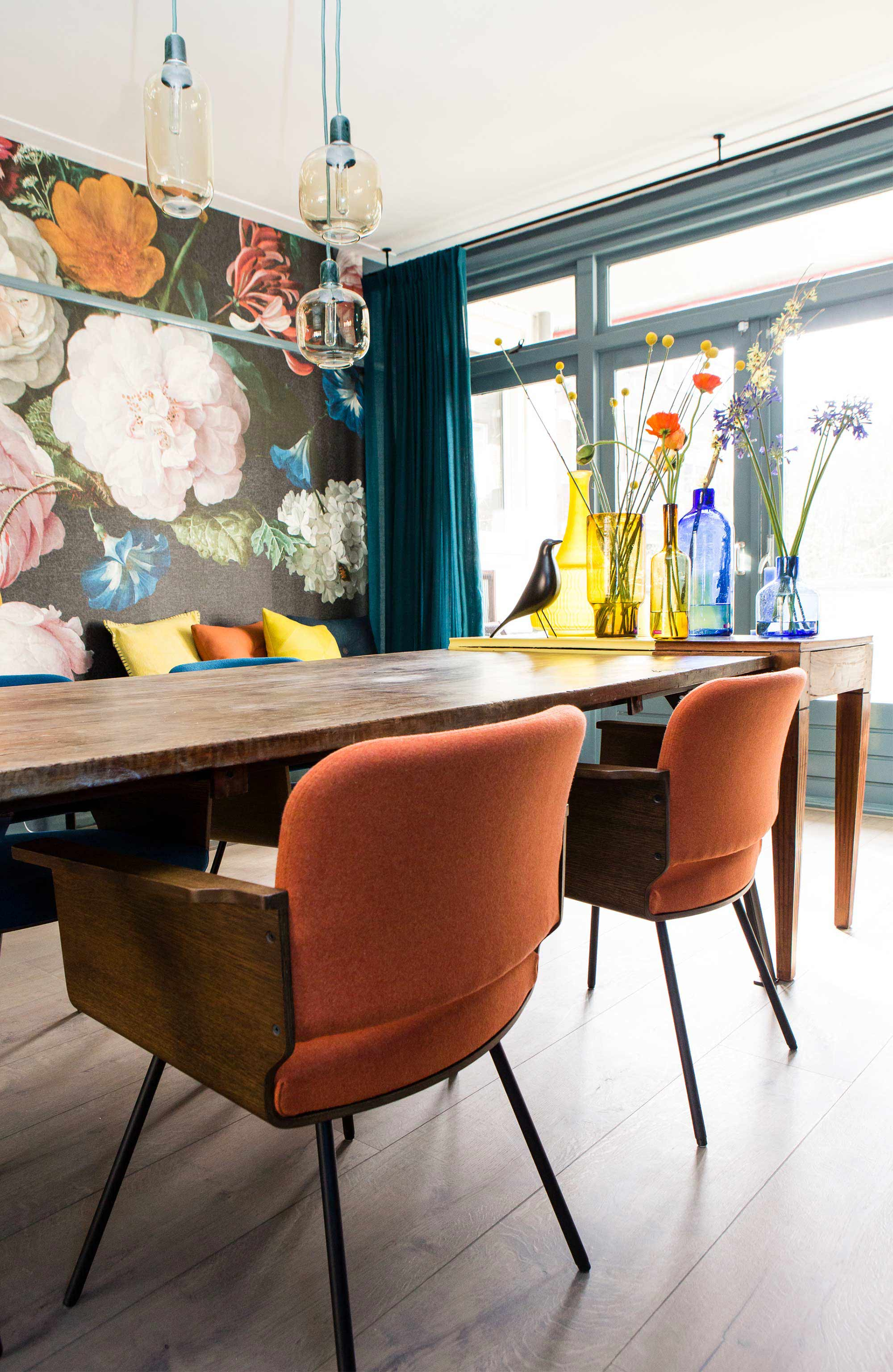 bohemien eethoek flamboyant voorjaarshuis