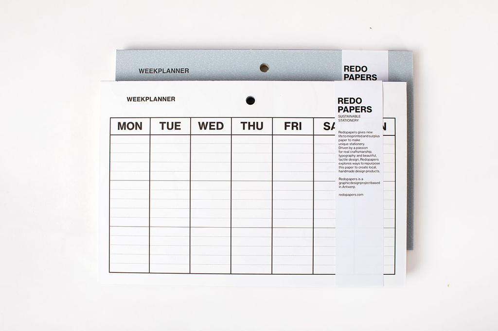 Weekplanner van Redopapers