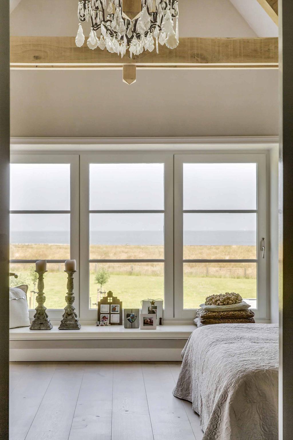 slaapkamer uitzicht vensterbank