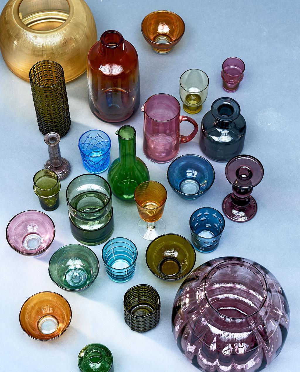 vtwonen | styling glas transparant kleuren