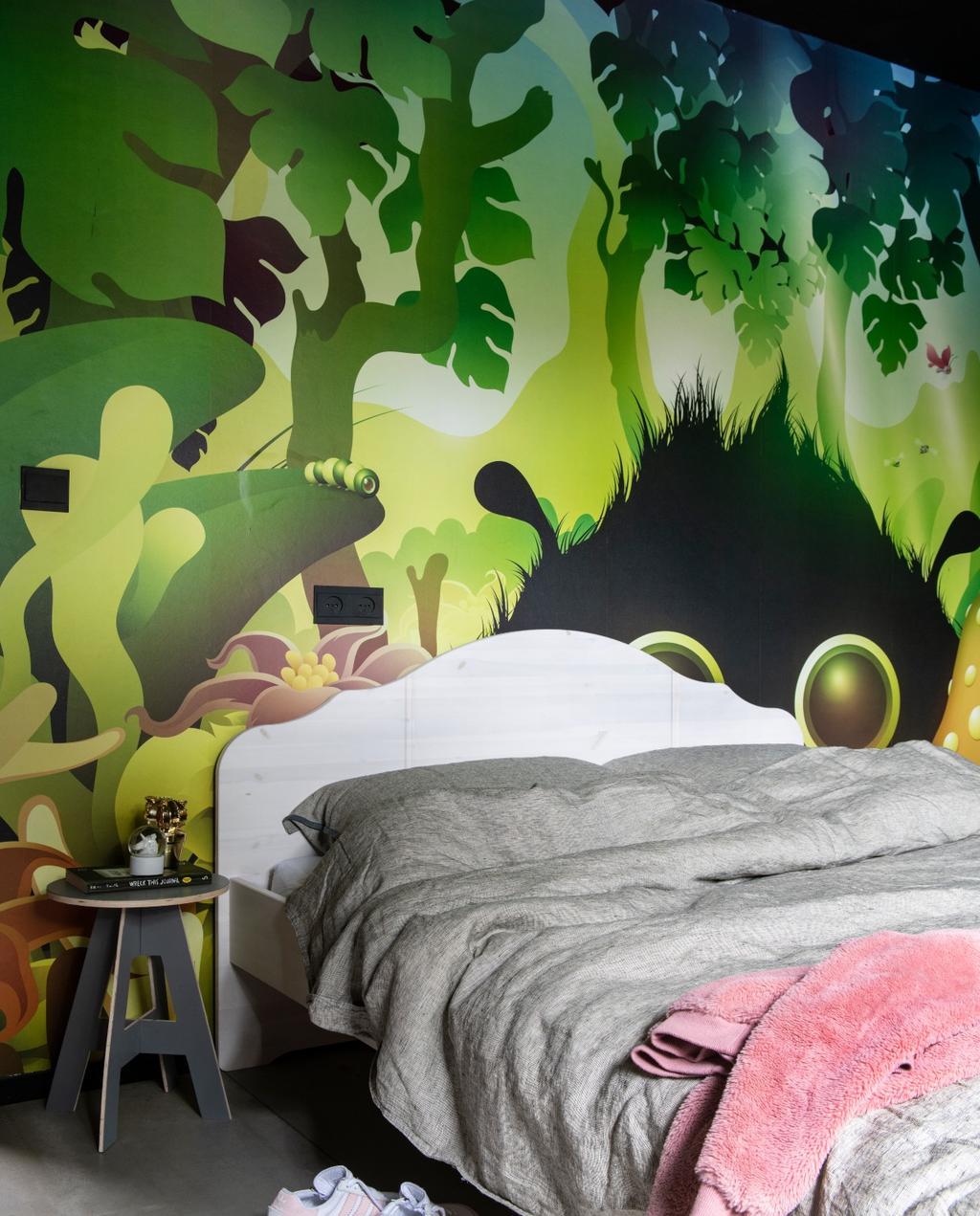 vtwonen binnenkijken 03-2020 | binnenkijken Heerhugowaard kinderkamer met jungle behang