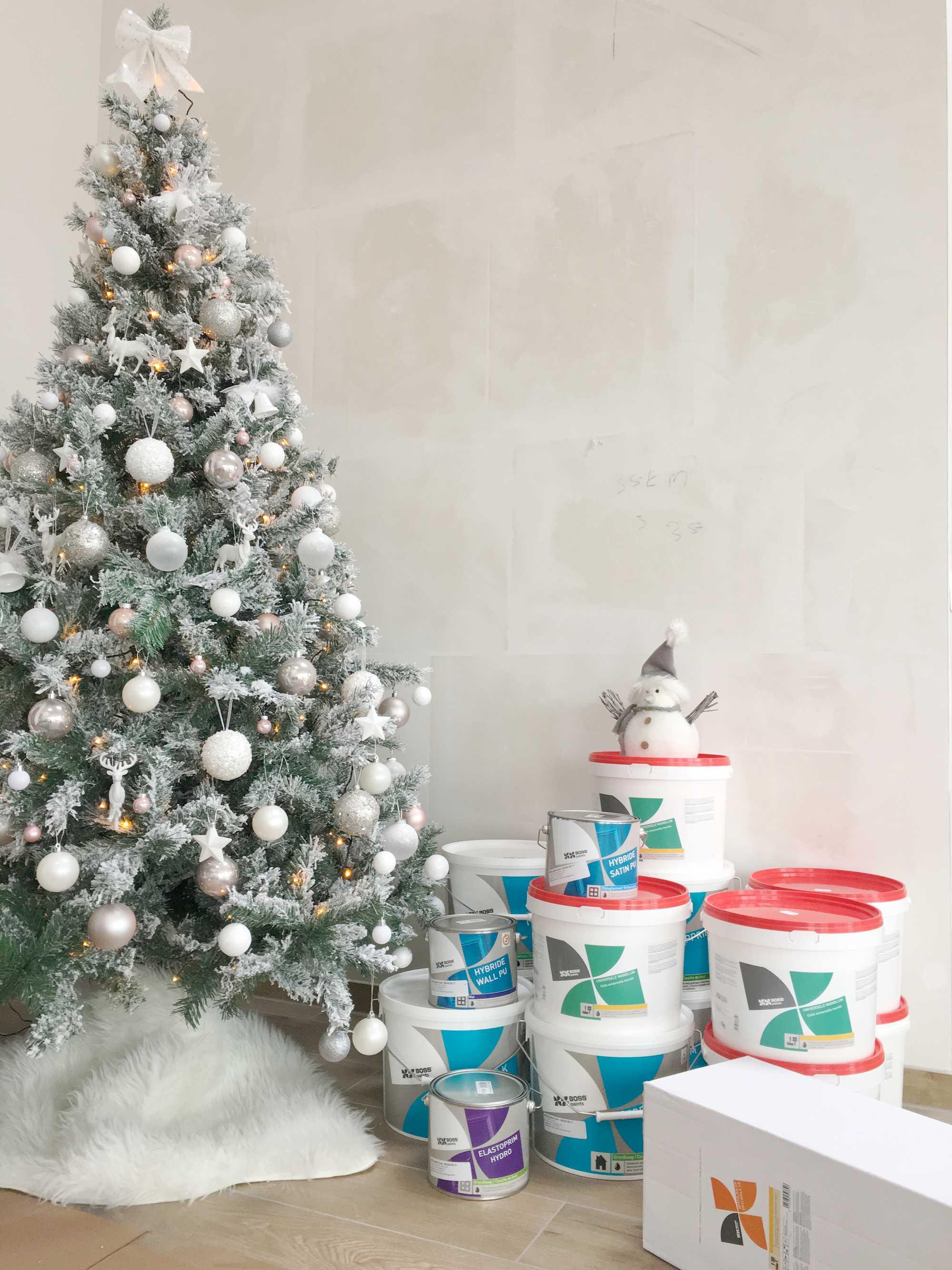 kerst verf wit
