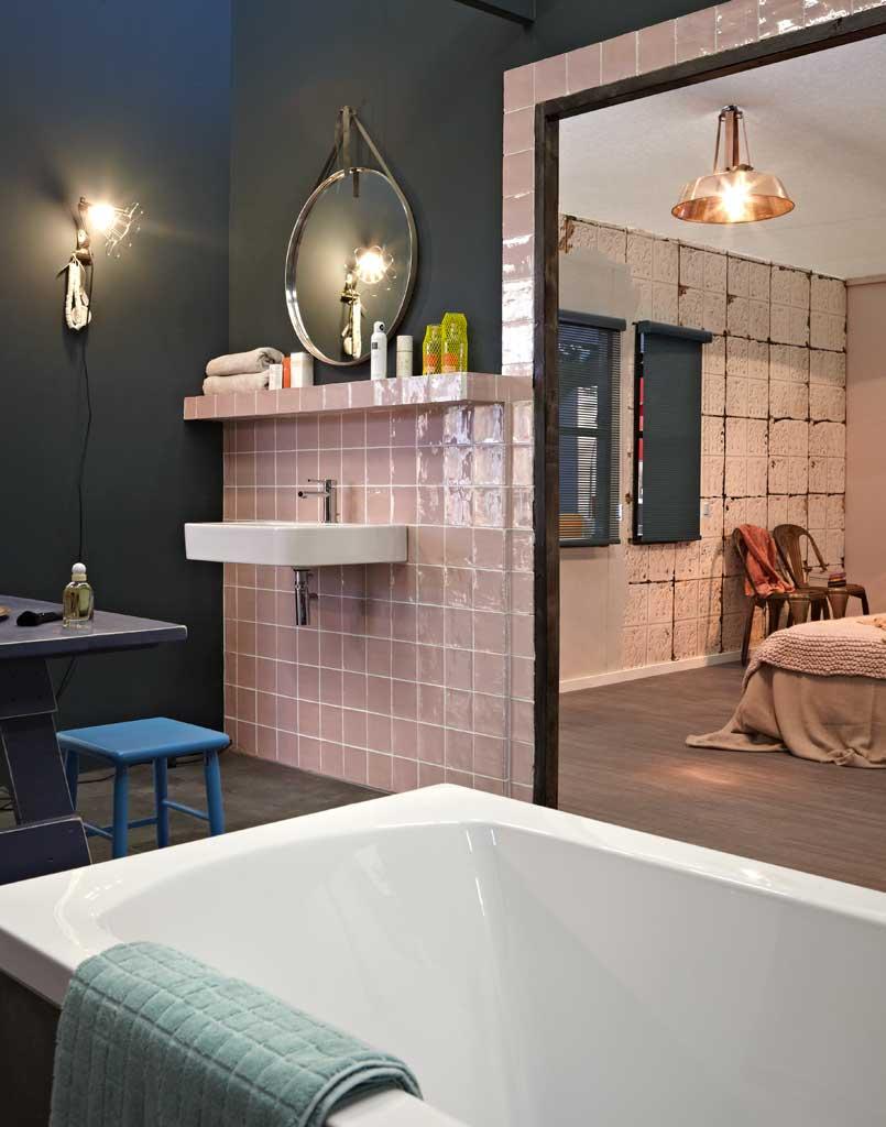 Slaapkamer en badkamer van woonbeurs 2012