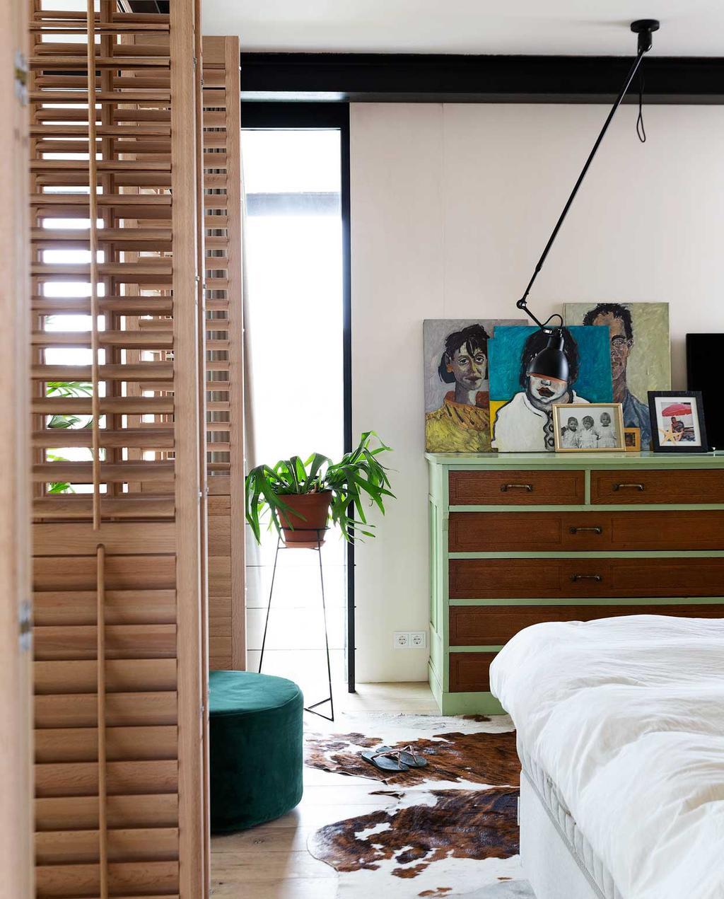 vtwonen 2020-03 | Binnenkijken | Groene slaapkamer