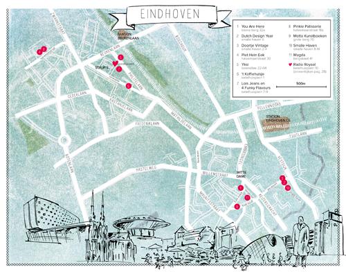 plattegrond Eindhoven hotspots