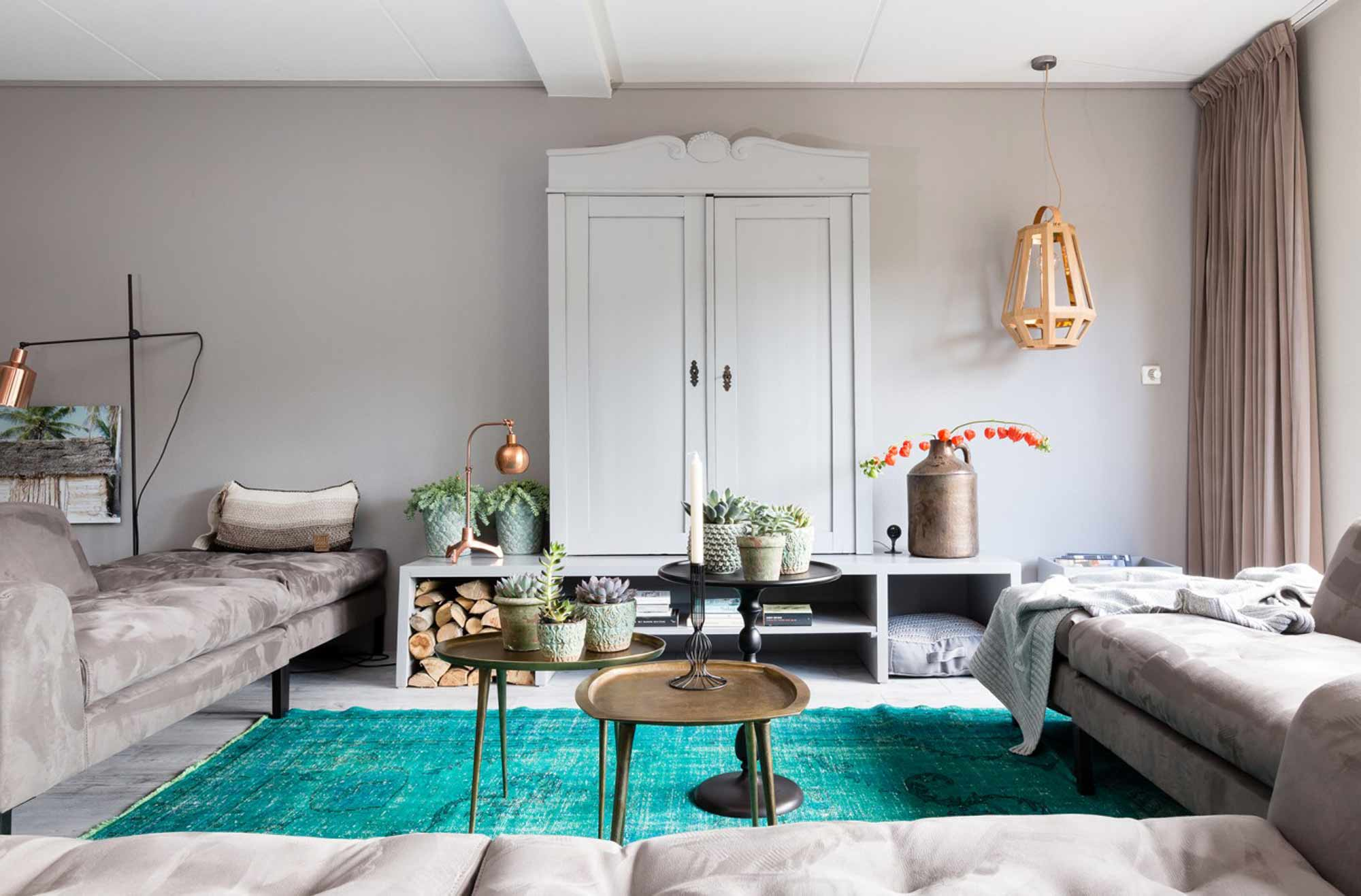 Landelijke stijl tv-kast woonkamer