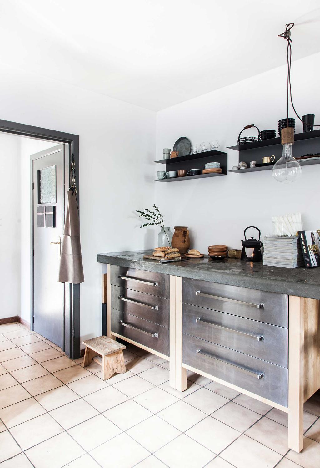 keuken hout metaal