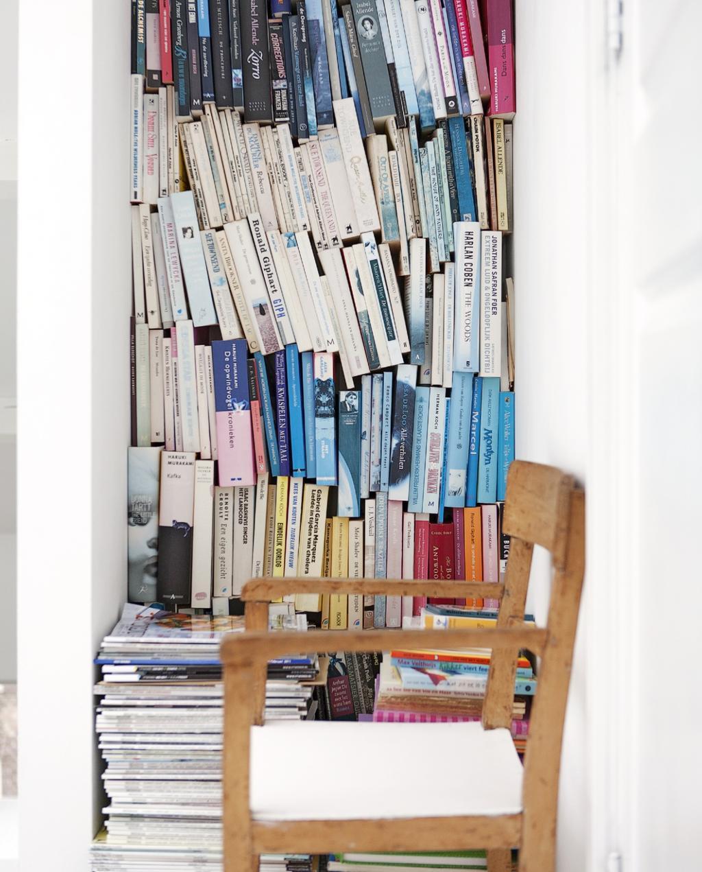boekenkast   boeken opruimen   opbergen   tijdschriften