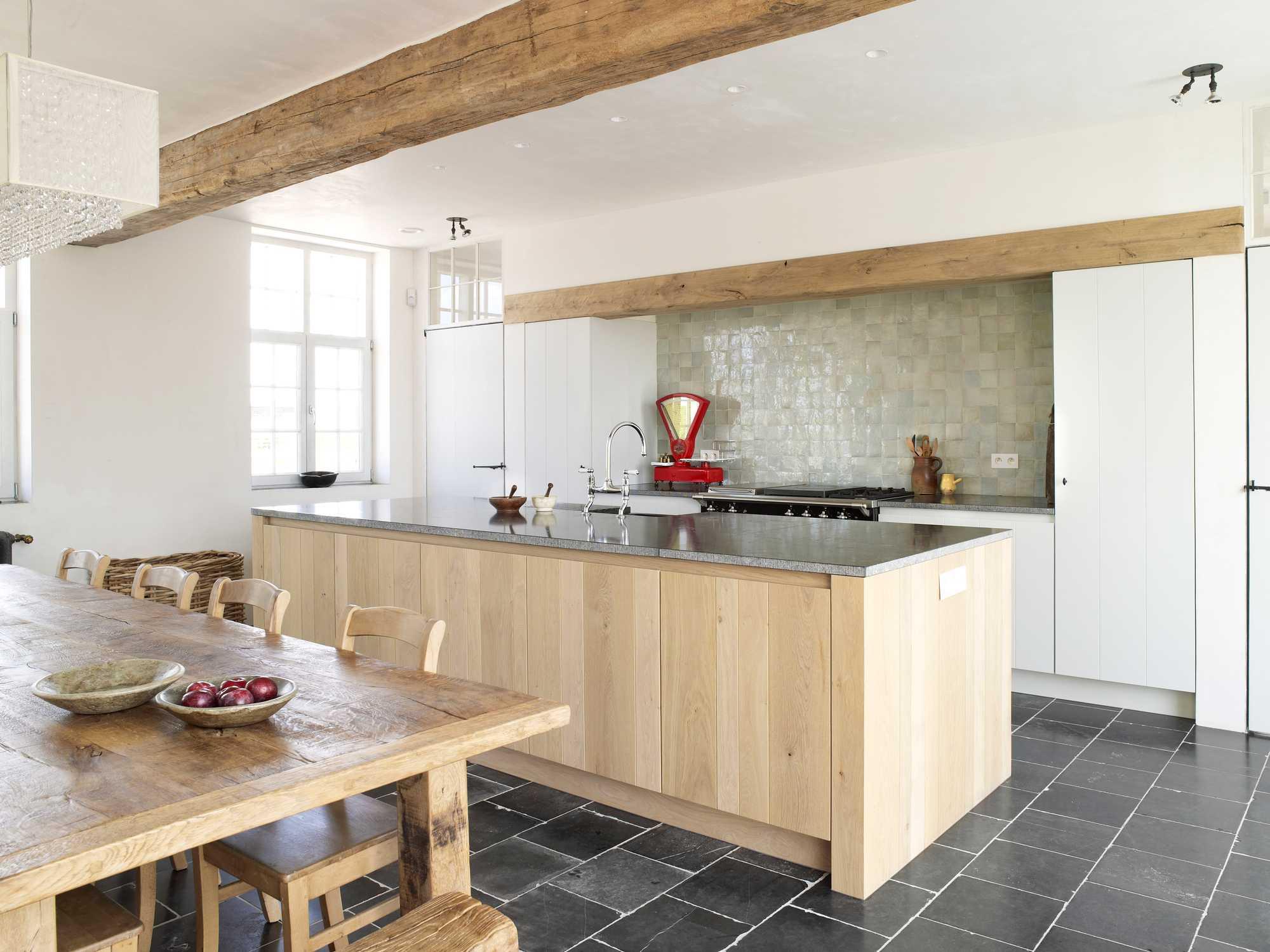 landelijke keuken frank tack hout weegschaal eik