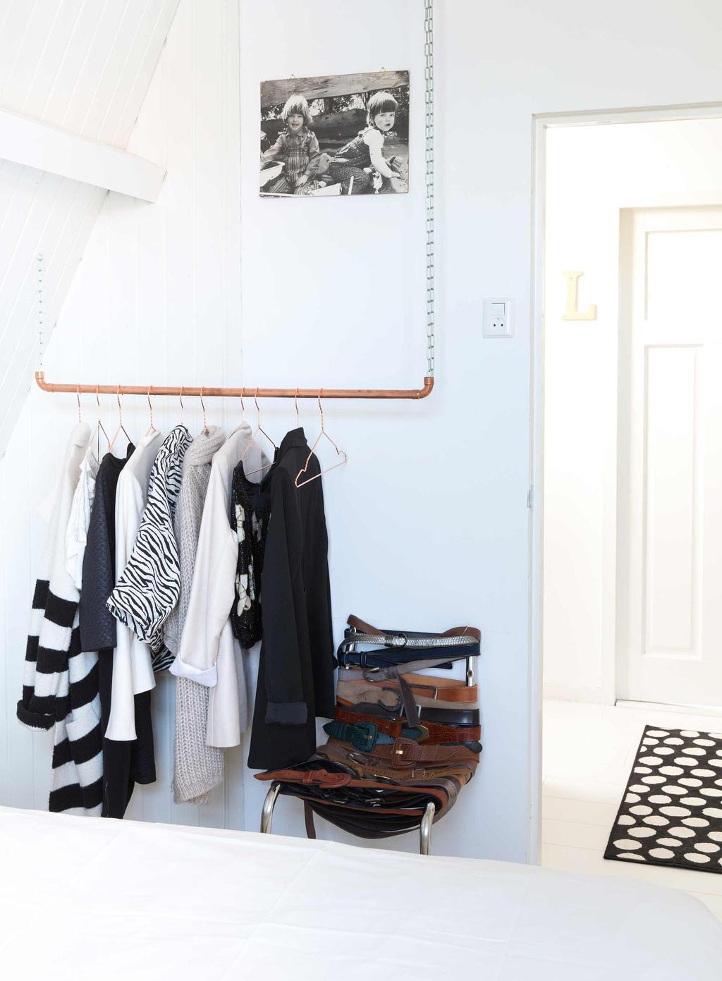 koperen kledingrek