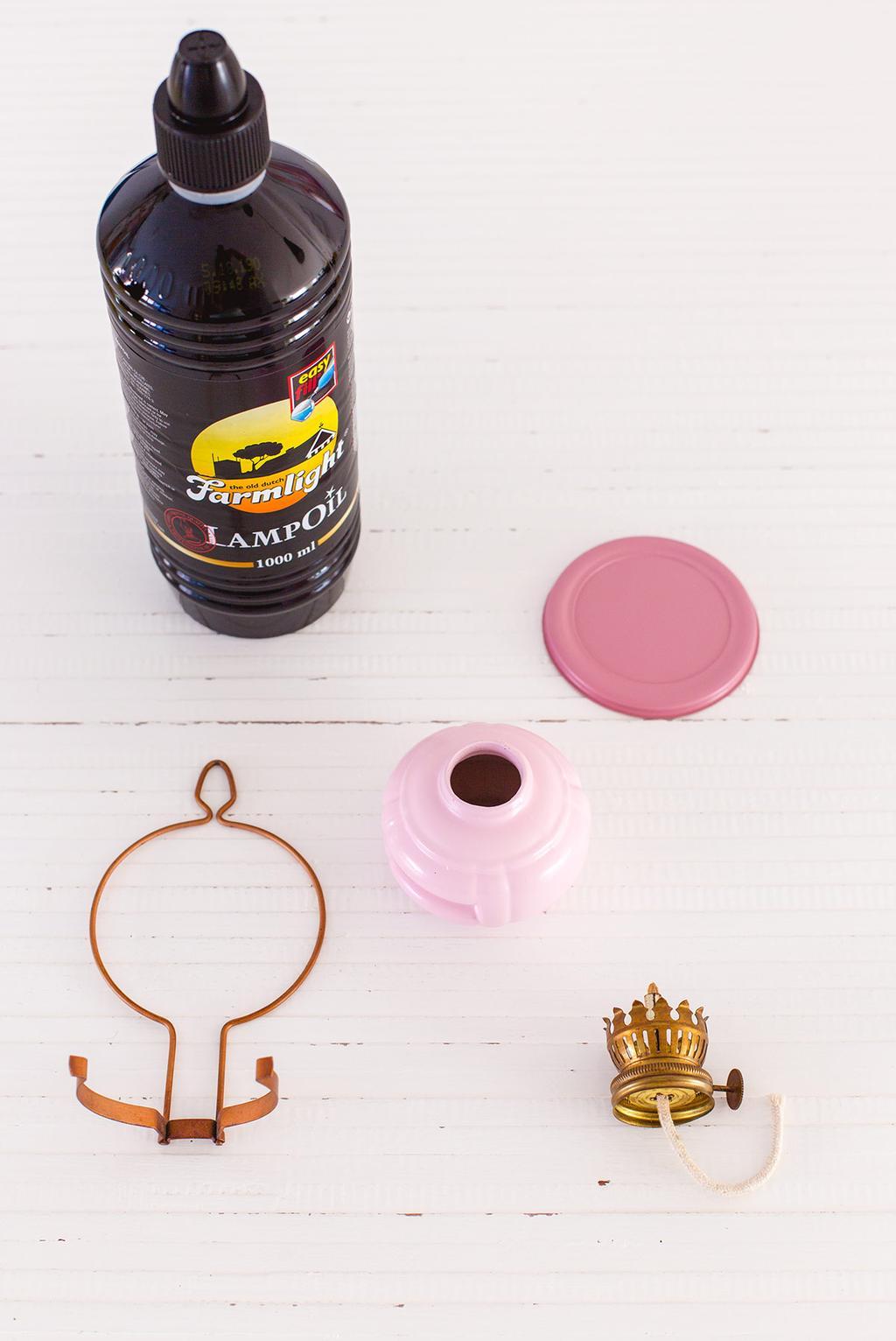 DIY vintage olielamp spuiten