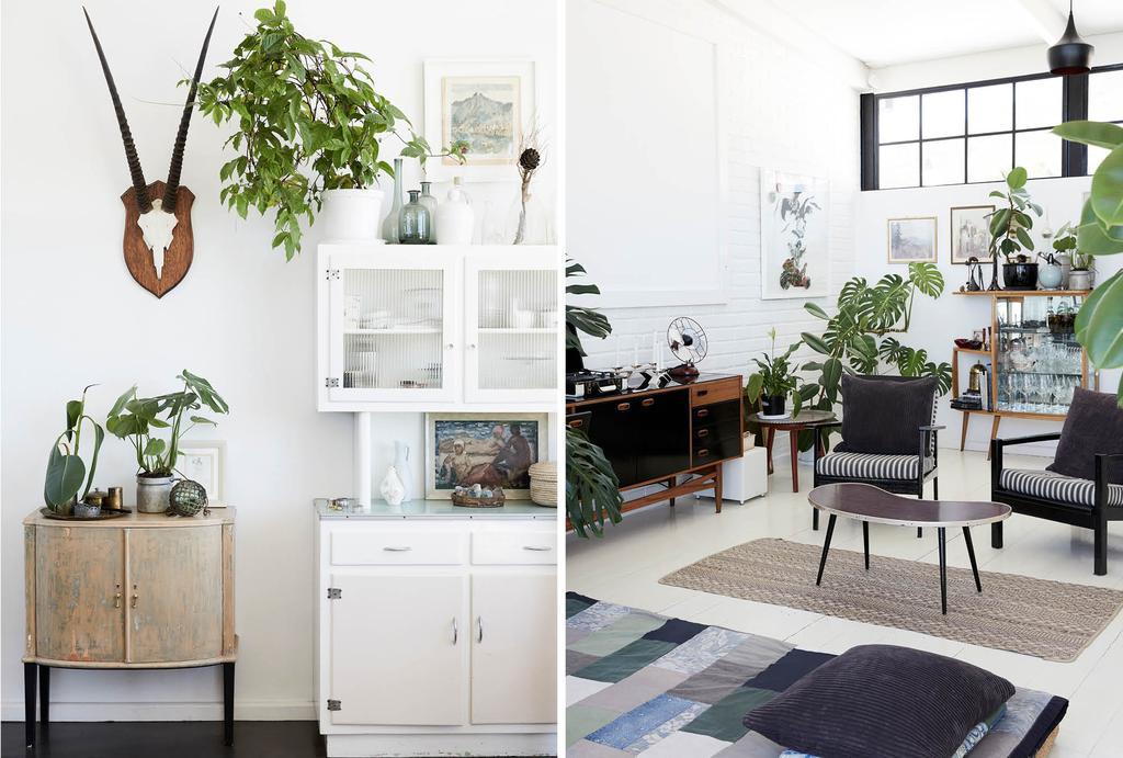 vtwonen binnenkijken in Kaapstad in een zwart-wit botanisch huis