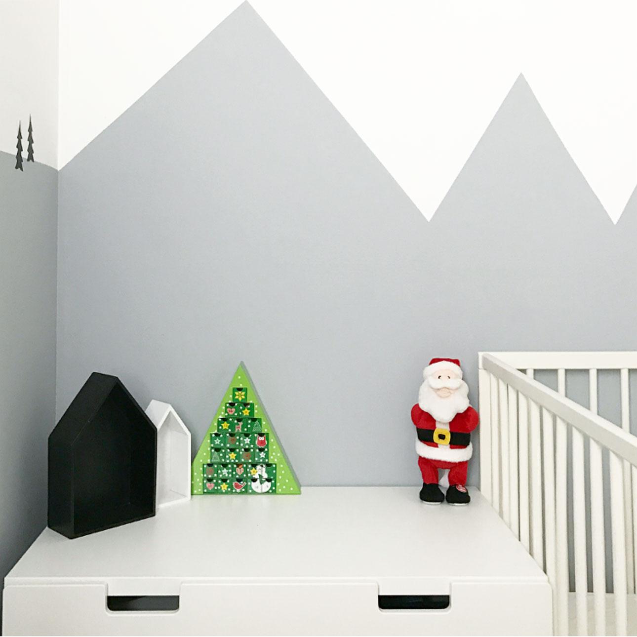 kerst kinderkamer kerstman