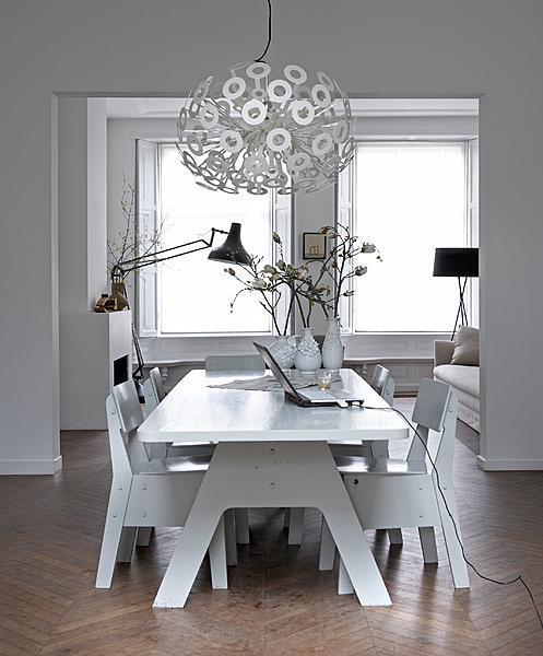 witte eetkamer