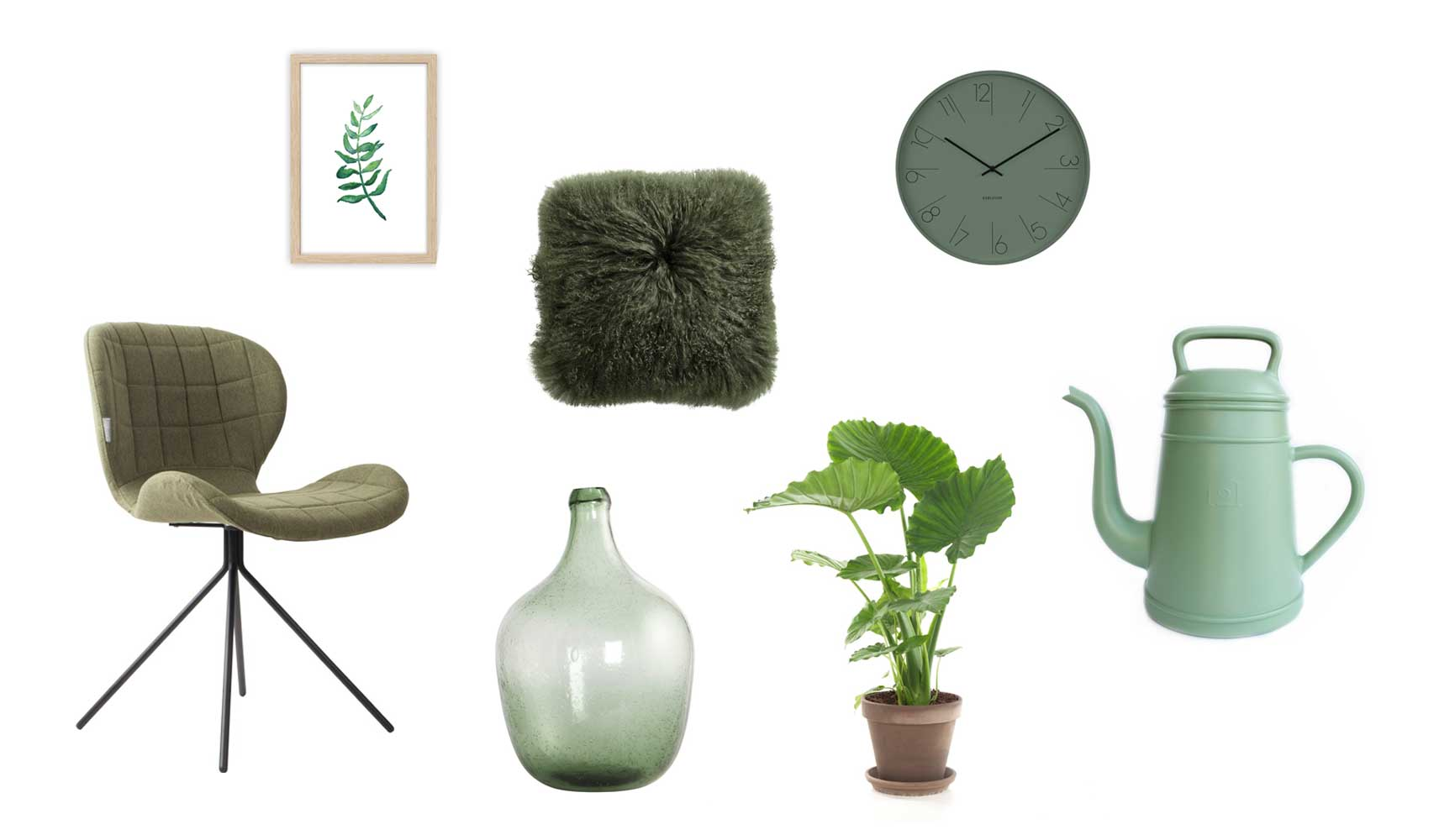 Shopping collage groen