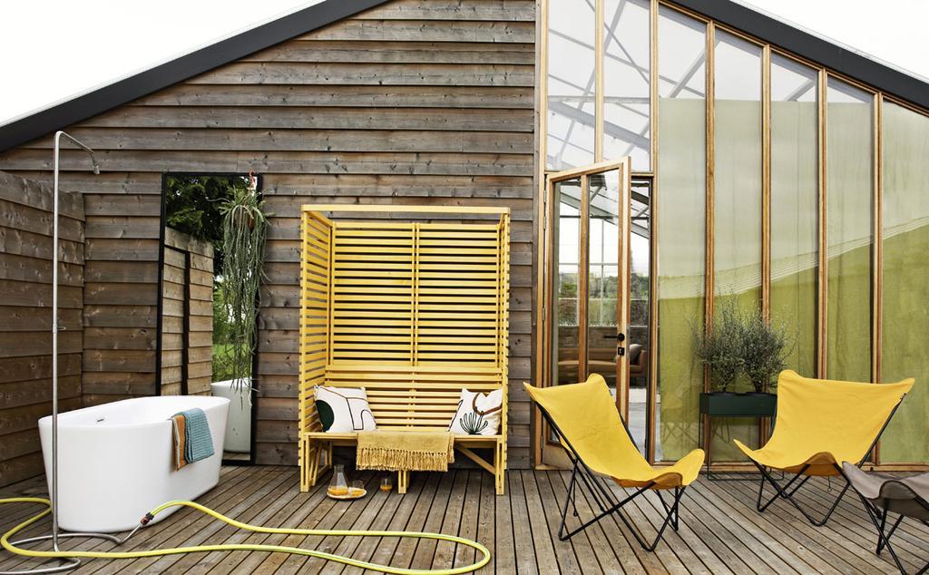 Een geel interieur hoeft zich niet te beperken tot binnenshuis