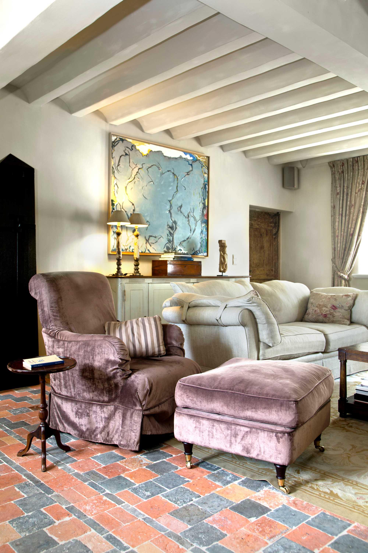 kleur den stal paarse fauteuil
