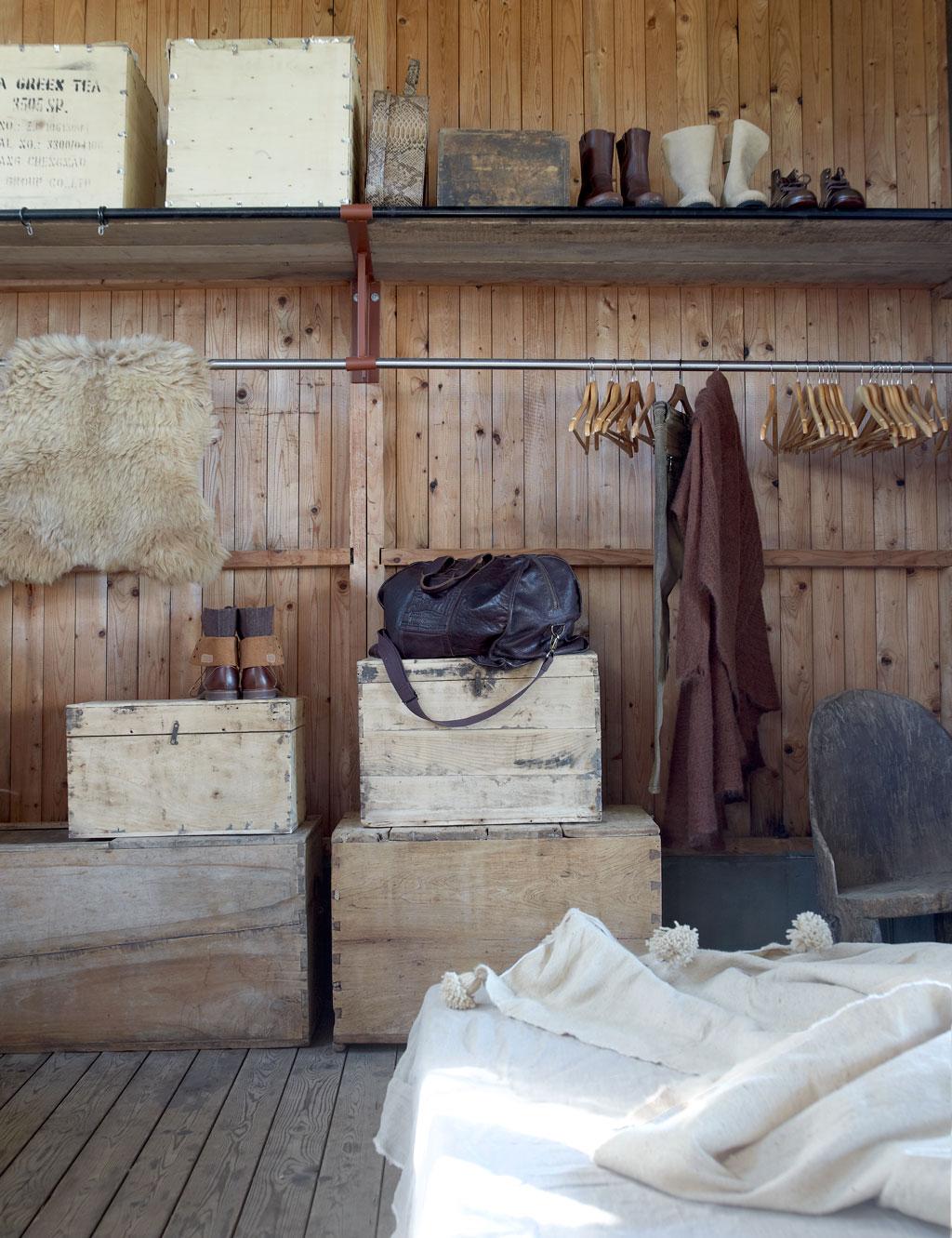 houten slaapkamer