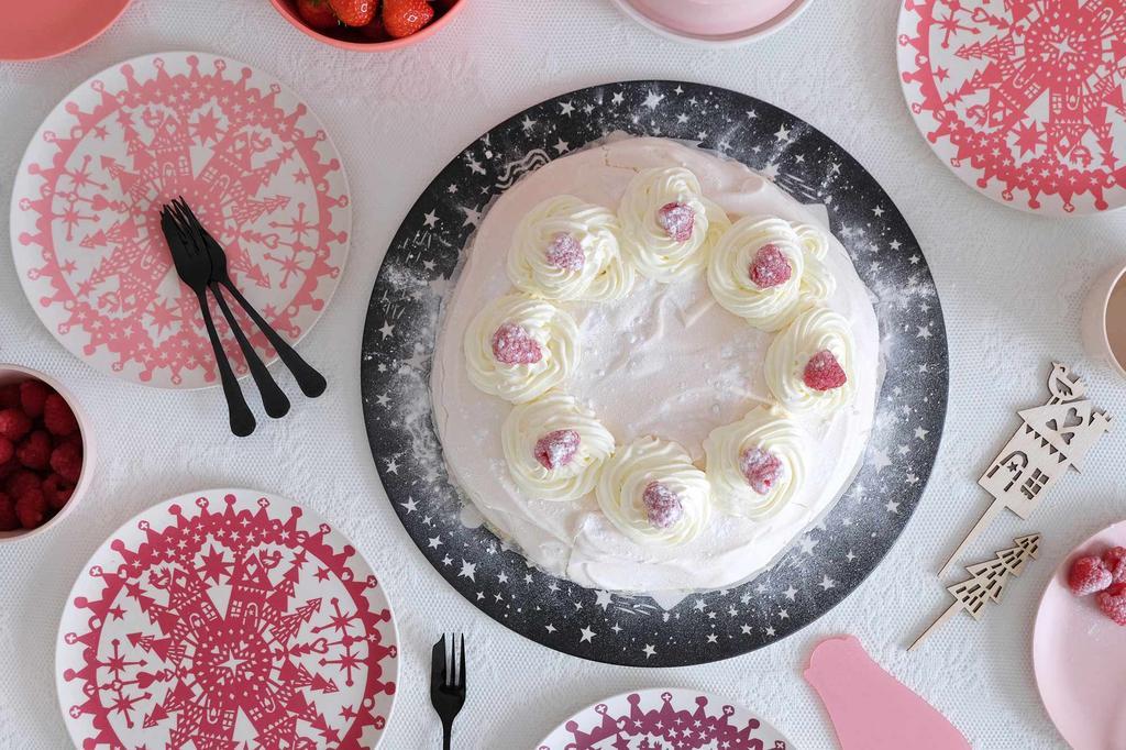 Kerstservies PRCHTG taart en bordjes