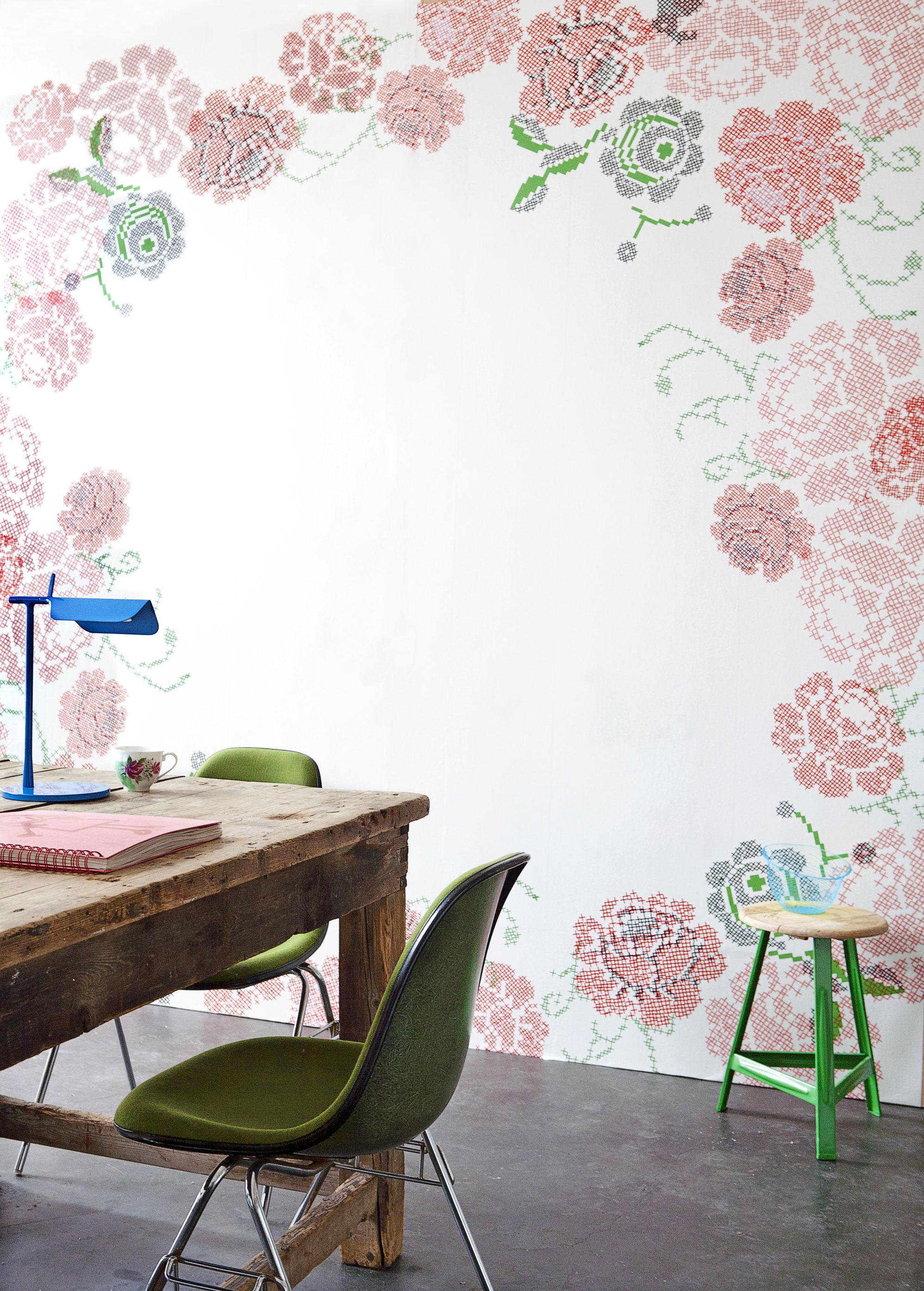 rozen behang