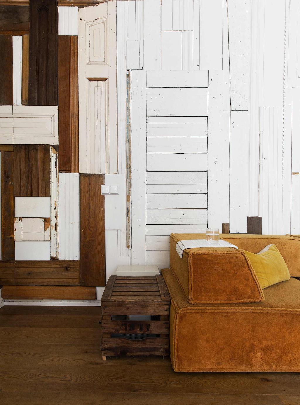 planken behang