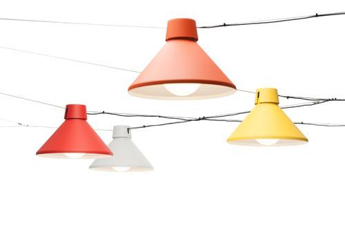 kleurrijke lampen van Zero