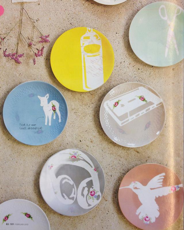 beschilderd servies
