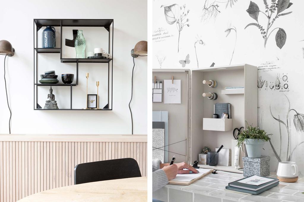 originele manieren om je spullen aan de muur kwijt te raken door een wandkast