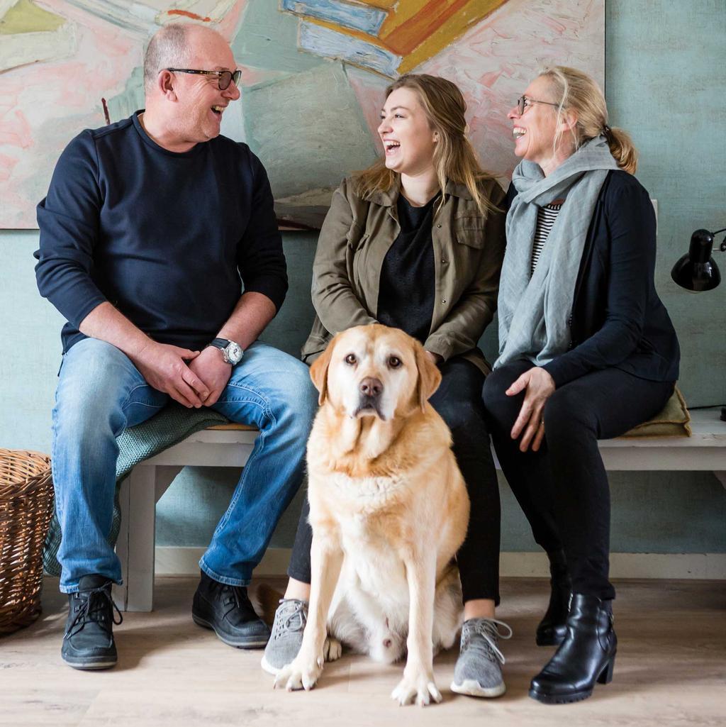 Arno, Mariska, Merel en hond Joe uit Alkmaar