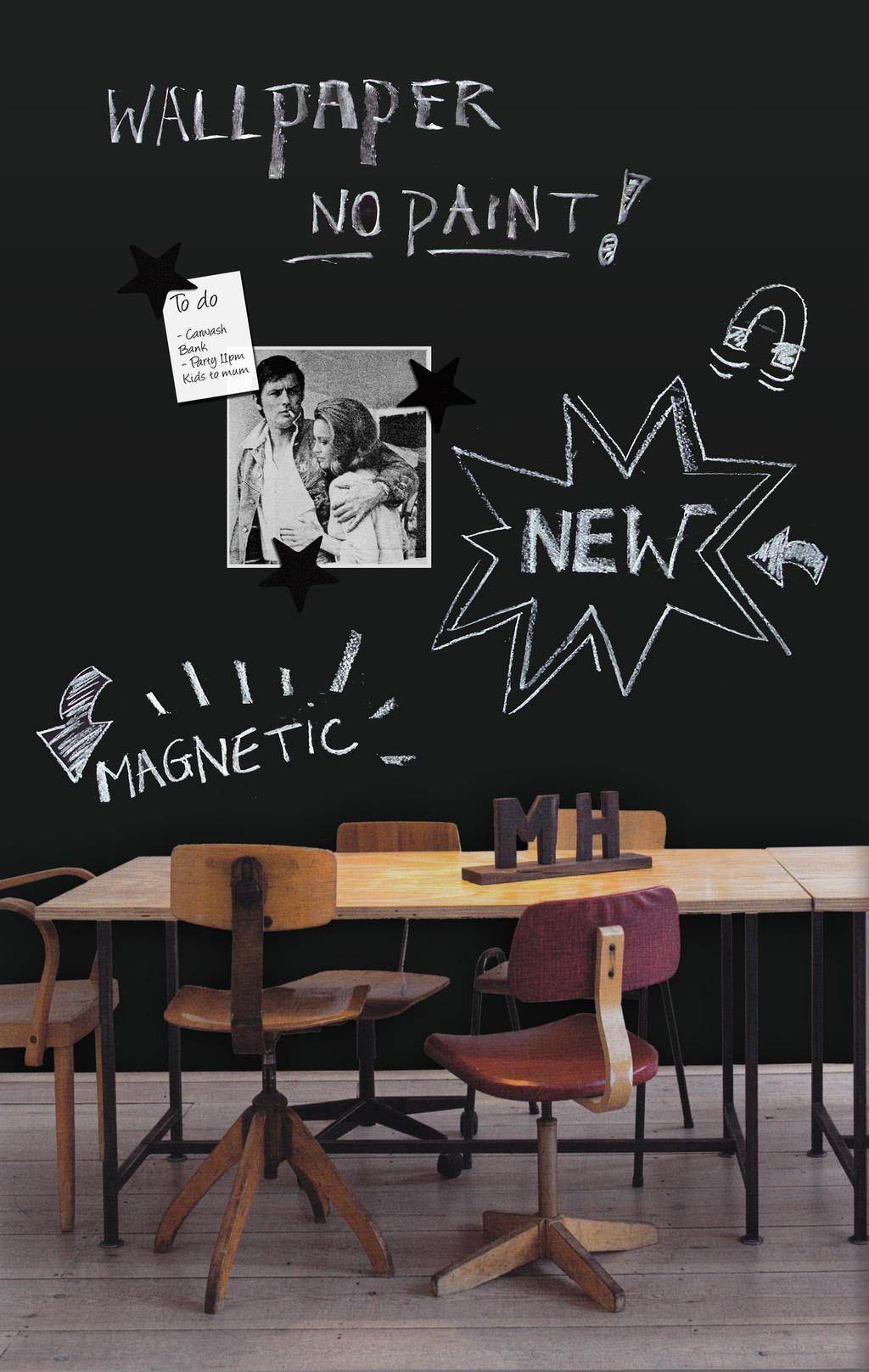 krijtbord muur - Magnetische krijtverf