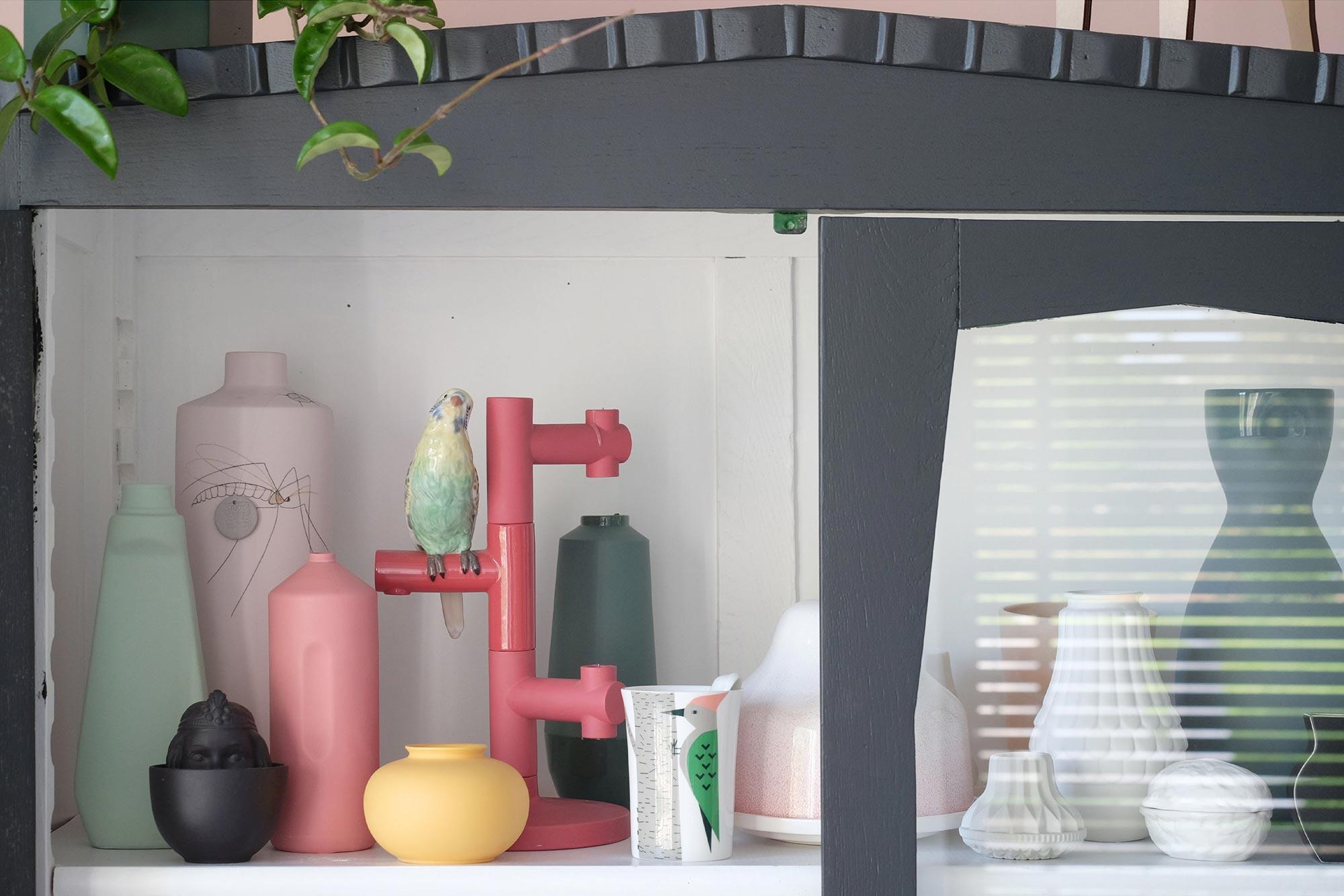 Roze kandelaar Jaime Hayon met PRCHTG
