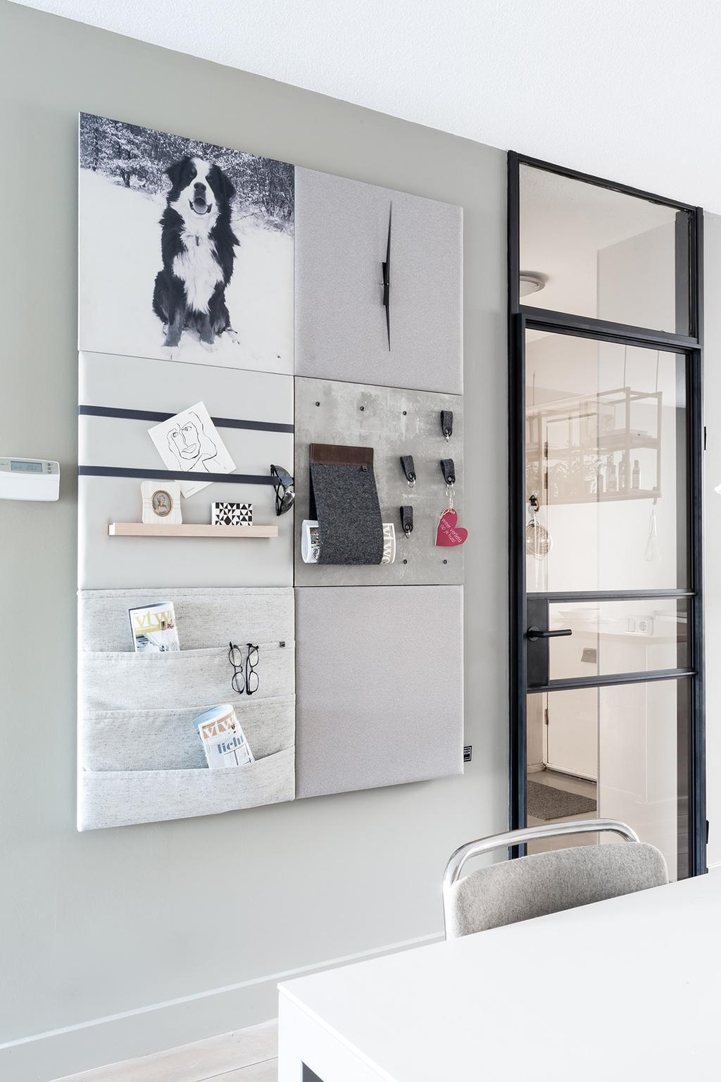 Stylepad aan de muur in eetkamer