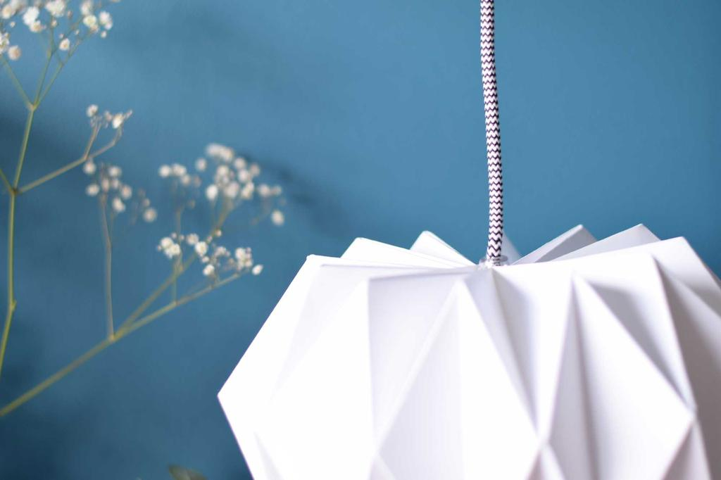 origami lamp detail