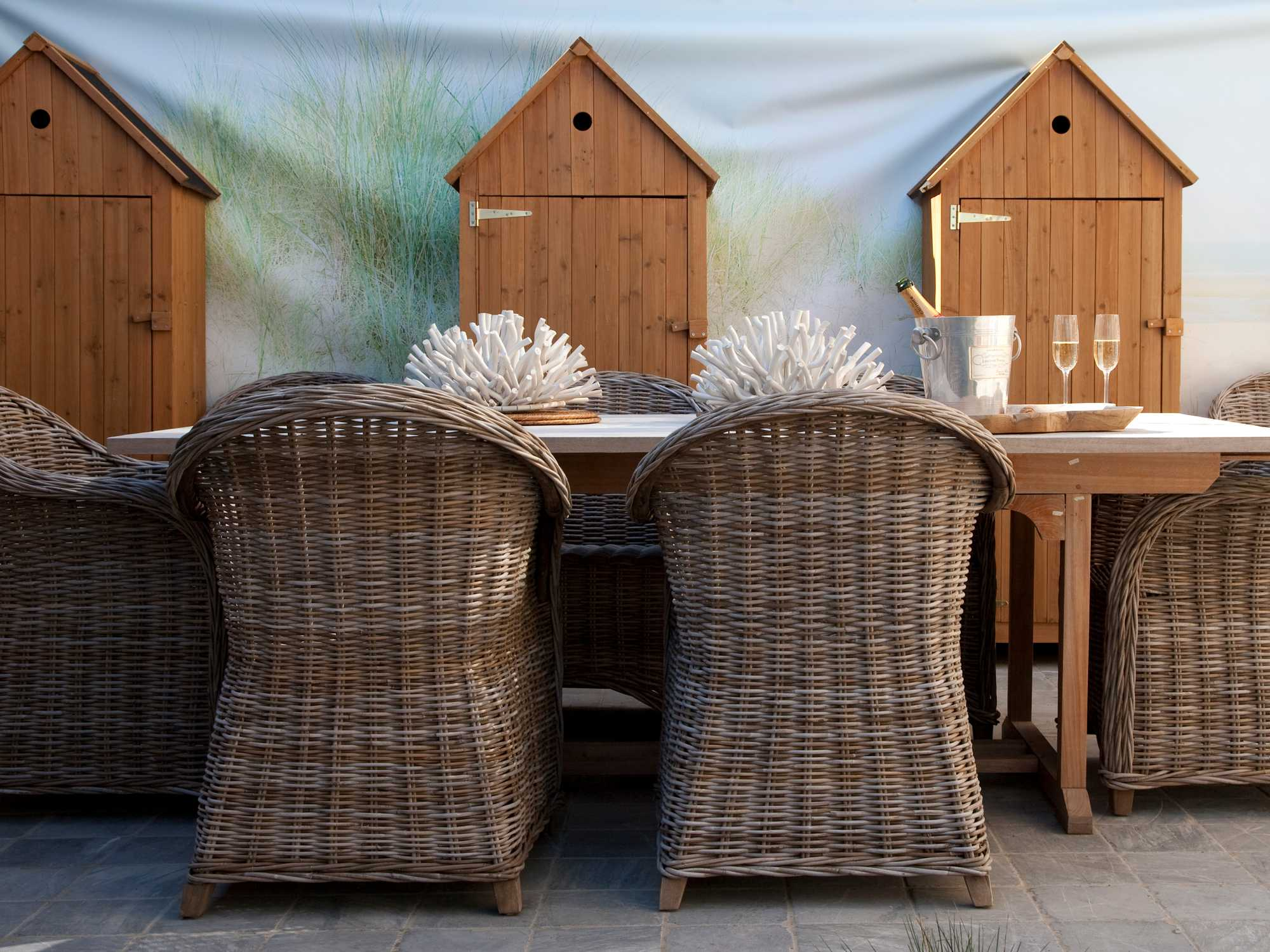 strandhuisjes stoelen doek