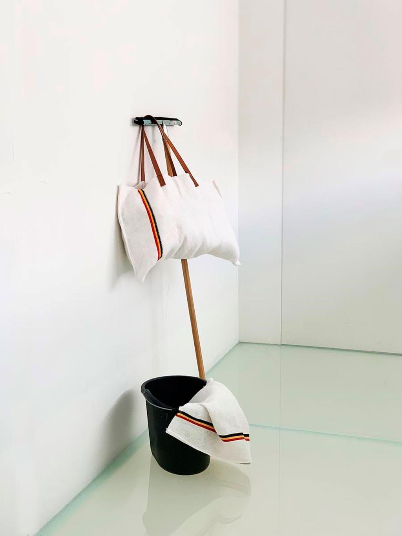 Tote bag gemaakt van een dweildoek