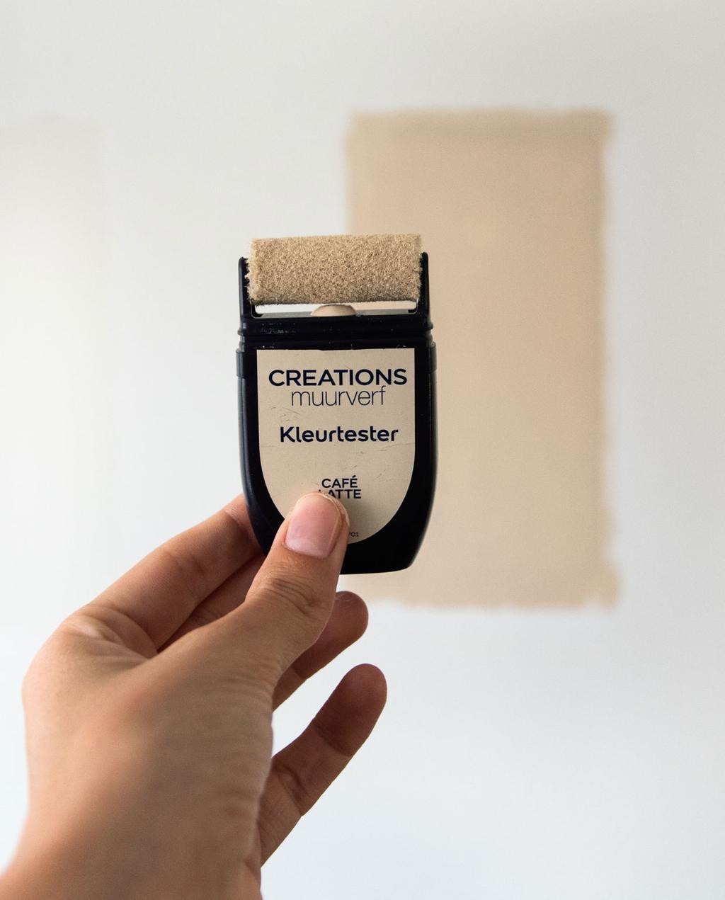 vtwonen blog Rachel Terpstra | kleur muurverf kiezen voor keuken met flexa creations testers cafe latte