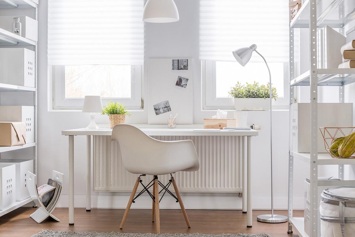 Werkplek Scandinavisch wit