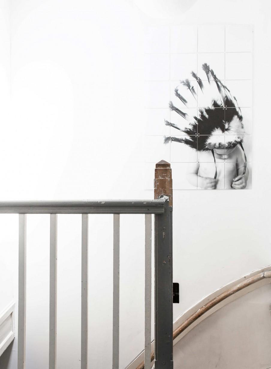 cage escalier poster indien