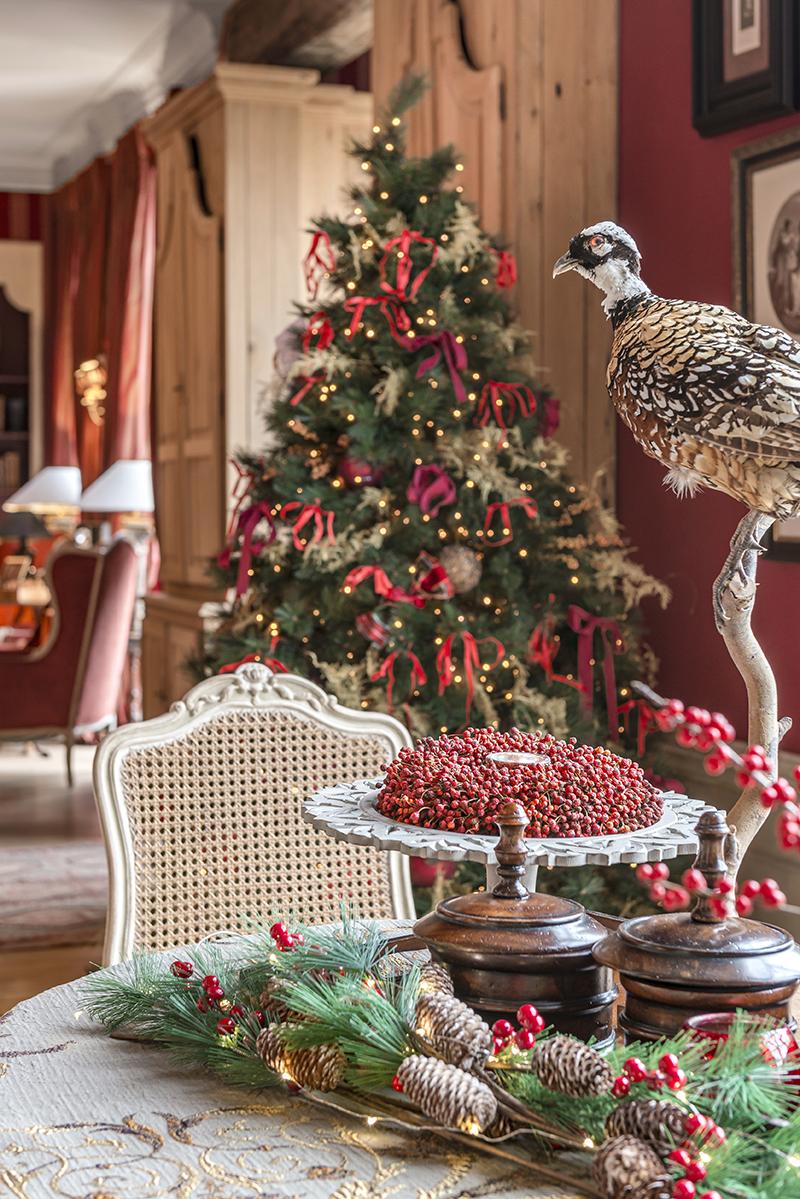 kerst in Engelse Stijl 02 Ilse De Troyer eetkamer doorzicht