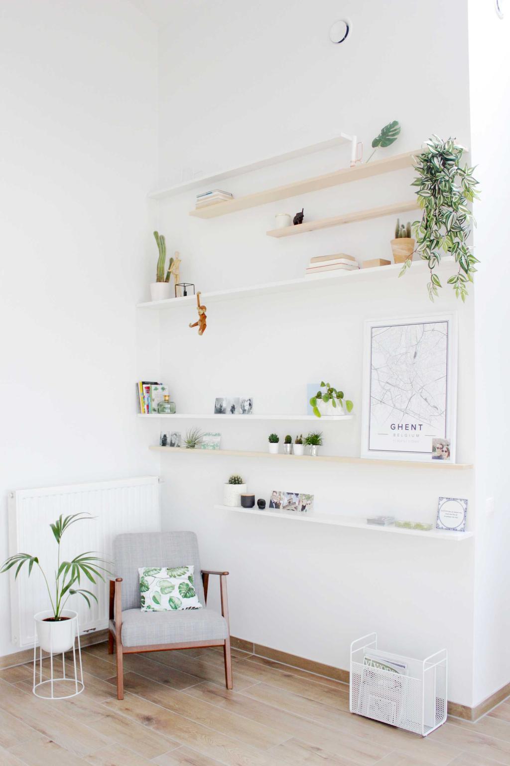 wandplanken hout woonkamer