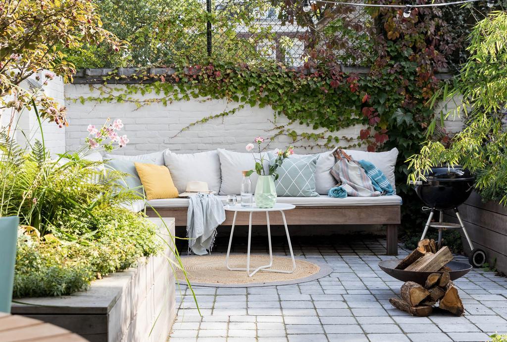 Loungehoek in de tuin