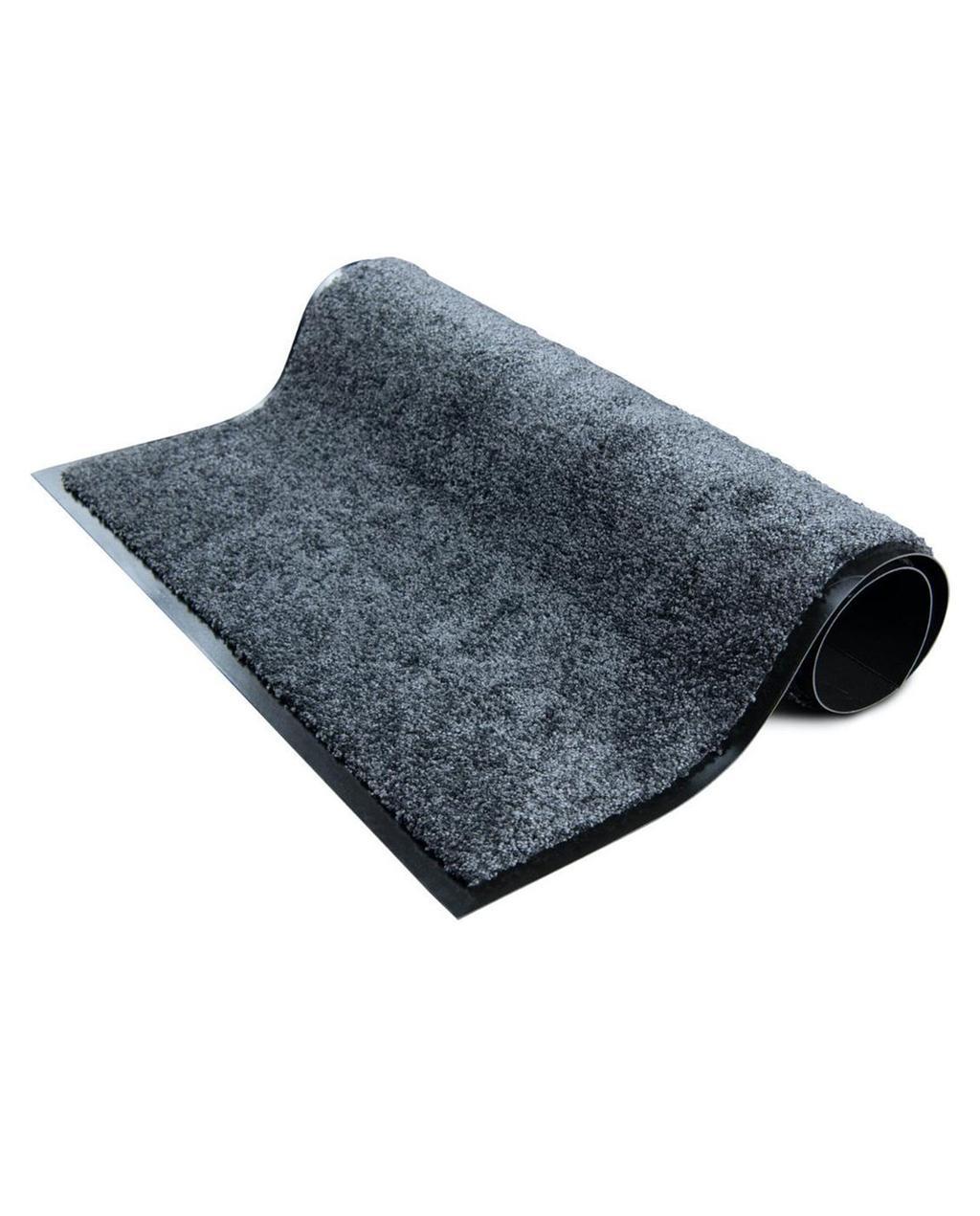 Zwarte grijze deurmat zodat je droog naar binnen loopt