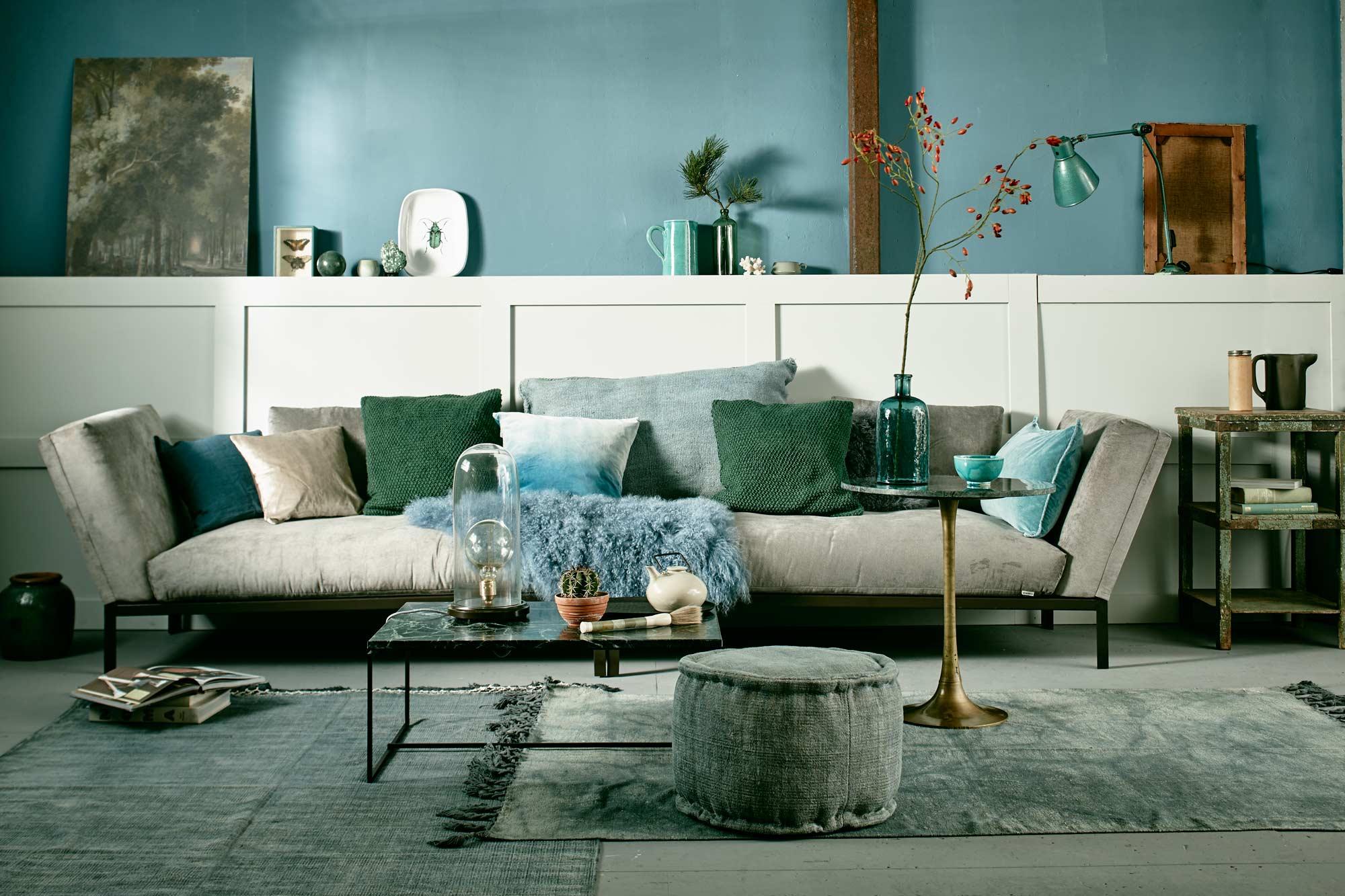 Behang Slaapkamer Blauw.Groentinten In Huis Vtwonen Be