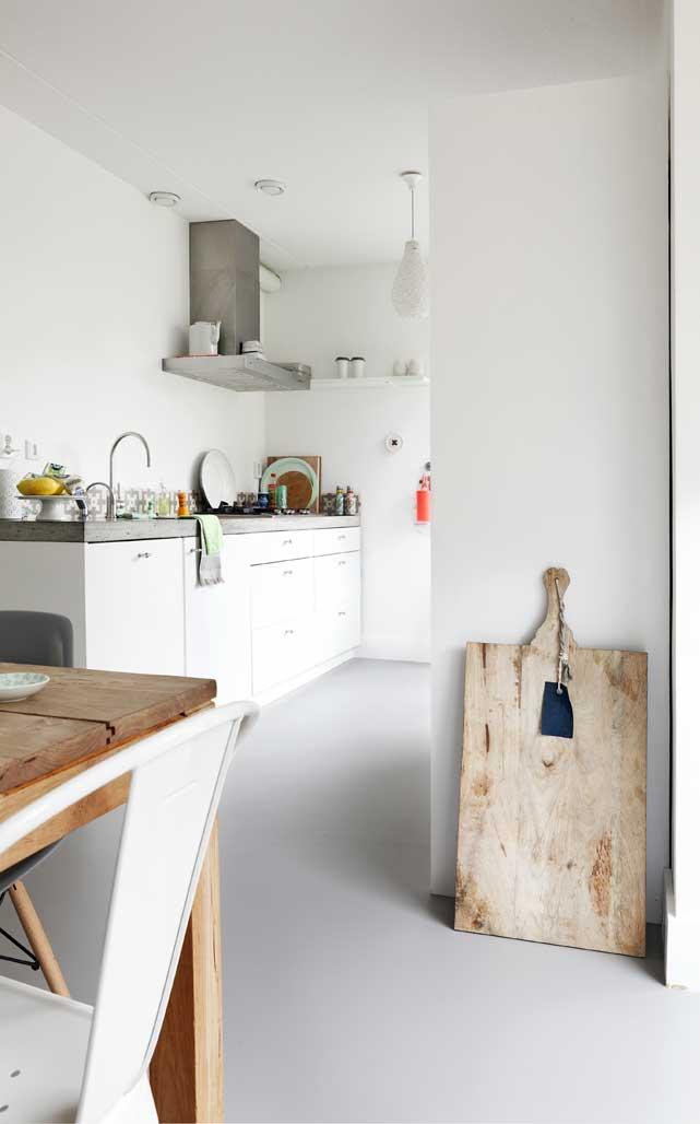 vloer marmoleum keuken